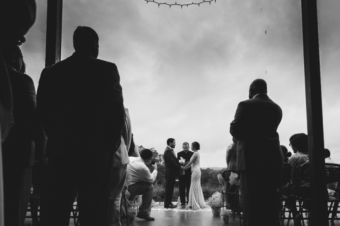 Rainy Romantic Outdoor Wedding Ceremony